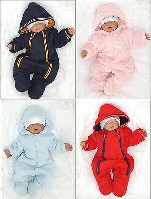 Snow Suit Winter Suit Jumpsuit Warm UNISEX sz. 1 month 62 68 74 80 Englandmode