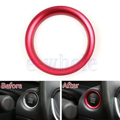 Engine Start Key Push Button Ring Trim Alloy For Mazda CX5 CX3 CX9 Axela Red GW
