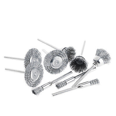 9pcs Steel Brush Wire Wheel Brushes Die Grinder Rotary Electric for Engraver