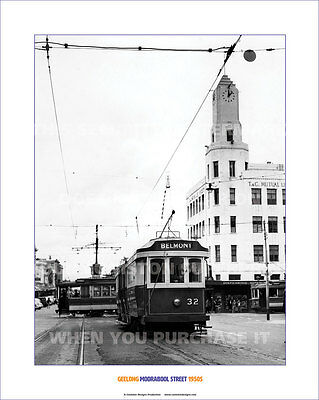 """GEELONG MOORABOOL ST 1950S HERITAGE 20"""" x 16"""" 51 x 41 CM POSTER PRINT PICTURE x"""