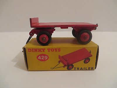 Vintage Dinky 429 Trailer in Red with Original Near Mint Picture Box