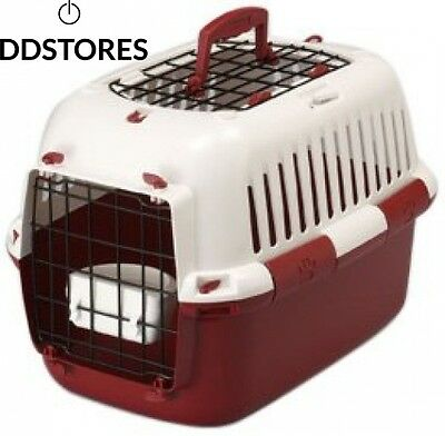 Europet Bernina 661 139431 Cage de transport TFD Rouge 49 x 32 cm