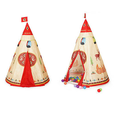 Kids Children Indian Teepee Playhouse Play Tent House Toy Gift Portable Foldable