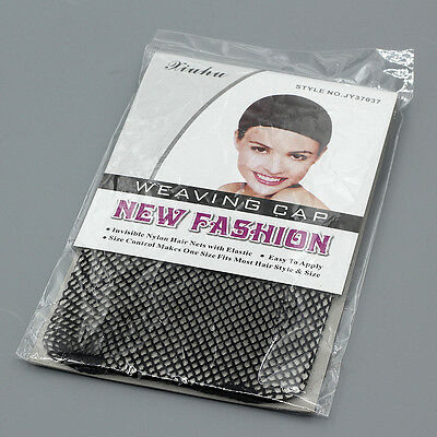 black hairnets elastic stretchable black hairnets snood wig cap cool mesh new