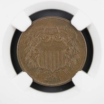 1868 Two Cent Piece NGC MS64 BN