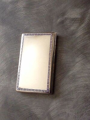 Lovely Austrian Solid Silver Enamel Cigarette Case 1920