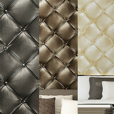Luxury 3D Damascus Wallpaper Wall Sticker Panel Thick Soft Non-woven Wall Cover