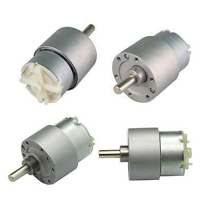 Mini 12V DC 3.5RPM-300 RPM High Torque Electric Gearbox Motor 37mm /25mm DIA