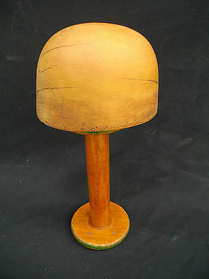 Genuine Antique Millinery Hat Block And Stand