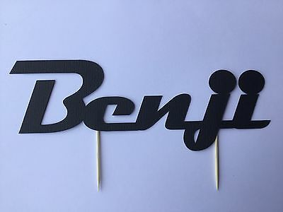 Cars themed Any Name, Any Colour cake topper, scrap booking or wall decoration