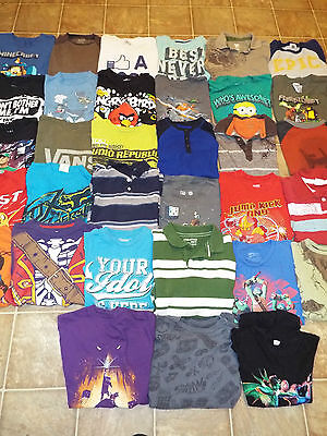 49 Pieces Boys size 10/12 Mixed items lot Pants shorts tops