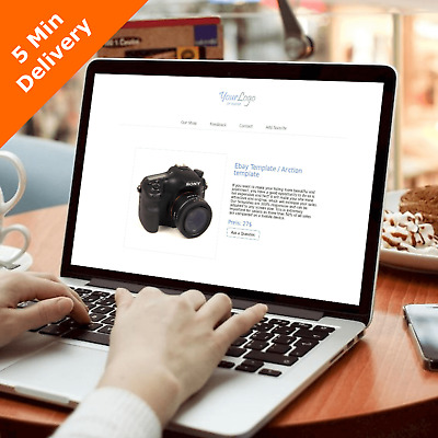 Ebay Template Listing Responsive 2018 Mobile Html 5 min delivery + Online Editor