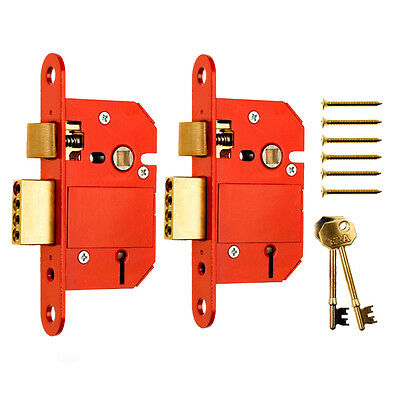 2 Keyed Alike Era Fortress British Standard 5 Lever Sash Door Locks
