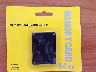 64 MB Memory Card 64MB for Sony Playstation 2 PS2 Slim Game Save Restore Card