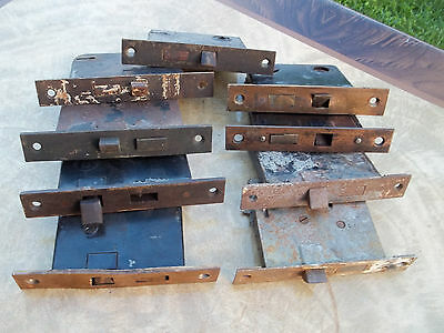 Lot of 9 Different Mortise Locks for Parts or Restoration, Free S/H