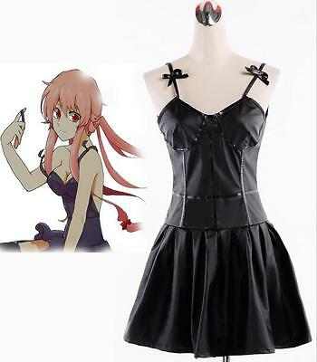 Cosplay Costume Inspired by The Future Diary Gasai Yuno Black Dress Suit
