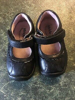 Stride Rite Girls Leather Black Maryjane Shoes Size 4M