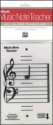 Alfred's Music Note Teacher All-In-One Flashcard White Theory Card Teaching Aid