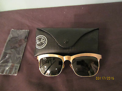 Vintage Ray Ban B&L Special Edition Gold Matte Metal Sunglasses Made in France