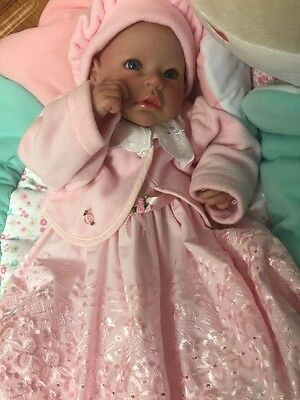 "Beautiful Realistic Hand painted 20"" Reborn Doll Baby Girl"