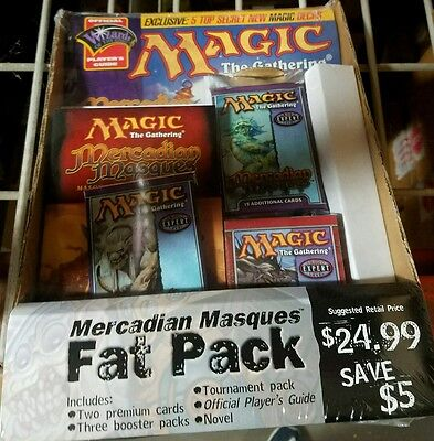 MTG Mercadian Masque Magic The Gathering Sealed Fat Pack Booster packs +