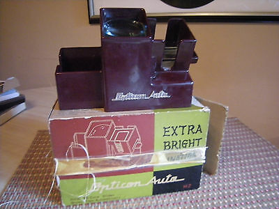 Opticon Auto Illuminated Slide Viewer #m2 With Box Works! Kodak Kodaslide Style