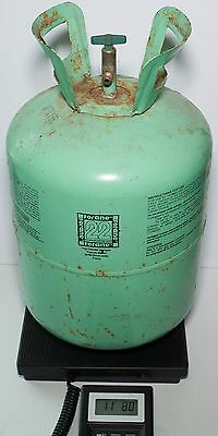 Forane Refrigerant R22 6 lbs in Partial 30 lb Tank R-22  No Box