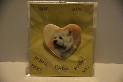 Westie Porcelain pin by Robert May