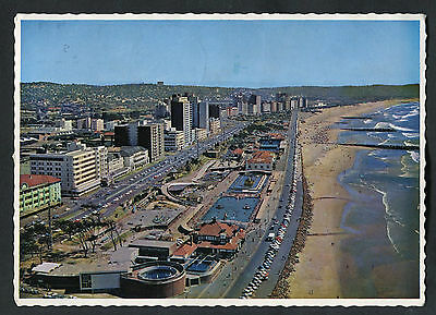 Posted 1973 Aerial View of Durban Beach Front, South Africa