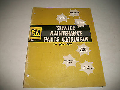 1964 General Motors Service-Maintence Catalog Wax Polish Chemicals Clips Cleaner