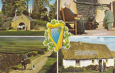 Postcard showing Country Life in Ireland.