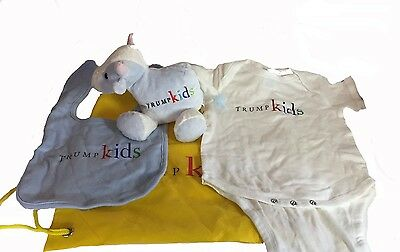 Trump Kids Collectable Package - Bib, Onesie, Animal, Bag NEW!