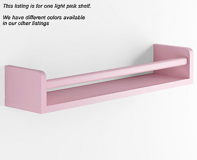 Light Pink Baby Nursery Room Wall Shelf Wood 17.5 Inch Ships Fully Assembled