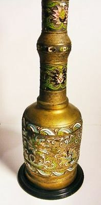 A Very Large and Beautiful Oriental Chinese/Japanese Brass Cloisonne Lamp