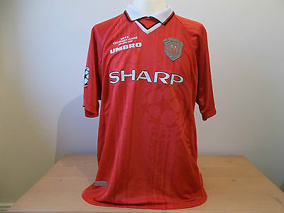 Manchester United Rare Champions League Shirt Jersey 1999 Xl Mens Original