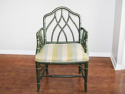 VTG Faux Bamboo Armchair Hollywood Regency Solid Wood Chair Cockpen 1962