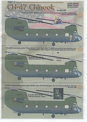Ch-47 Chinook Printscale Decals 48043 1/48