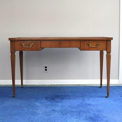 A Baker Directoire Style Writing Desk Satinwood Mahogany c1960 Brass Casters