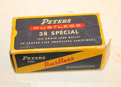 Vintage Peters 38 Special Ammo Box Empty