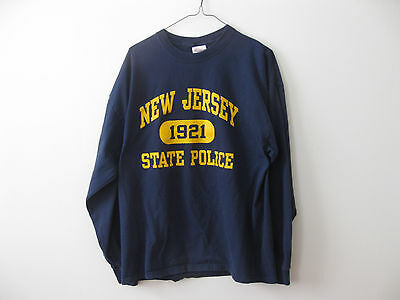 New Jersey State Police Long Sleeve shirt t-shirt Adult XL L Troopers Trooper