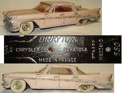 Ancienne voiture, jouet originale Chrysler Saratoga  Dinky Toys Meccano N°550