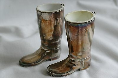 Silver Plated Boot vases