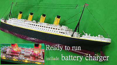 Titanic RC boat 1/325 remote control toy ship scale model LED 80cm 31inch RTR
