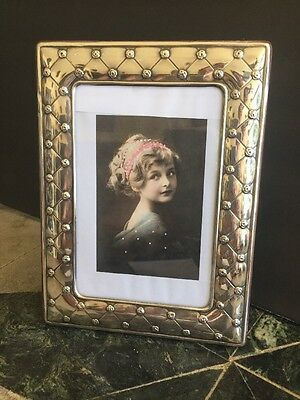 Sterling Silver Picture Frame Quilted Pattern