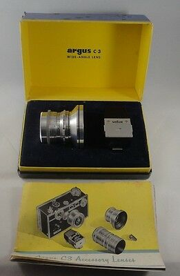 Vintage Argus C-3 35mm F:4.5 Wide Angle Lens With Box