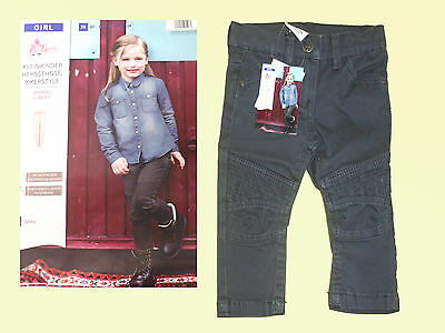Toddler Jeans Trousers Girs Jeans Children Jeans Bikerlook Size 74 Grey New