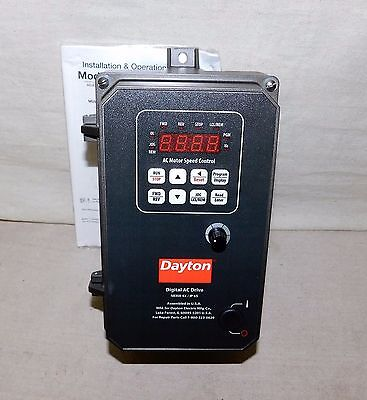 DAYTON 13E644 Variable Frequency Drive 1 Max HP 120/208-240VAC Input V