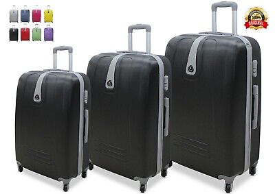 Valigia Set 3 Valigie Trolley Rigido Piccolo Medio Grande 4 RUOTE in ABS