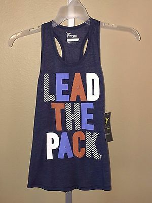 89a28ca30493a GIRL S OLD NAVY Active Lead the Pack Bluetification Blue Tank Top
