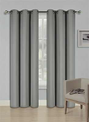 New Outdoor Unlined Thermal Blackout Window Drape Curtain Patio Panel 1 Set k68